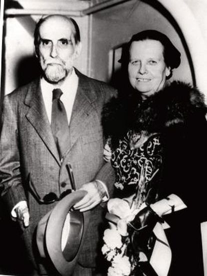 Juan Ramón Jiménez y su esposa Zenobia Camprubí, en el exilio en Puerto Rico