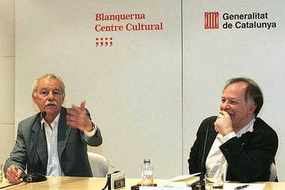 Eduardo Mendoza (a la izquierda) y Javier Marías, en Madrid.