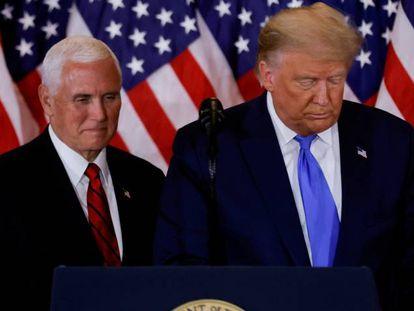 El presidente de EE UU, Donald Trump, y el vicepresidente, Mike Pence.