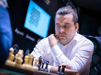 Ian Niepómniachi, este martes durante la novena ronda del Candidatos en Yekaterimburgo