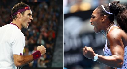 Roger Federer y Serena Williams, durante el pasado Open de Australia en Melbourne. / HANNAH MCKAY | KAI PFAFFENBACH
