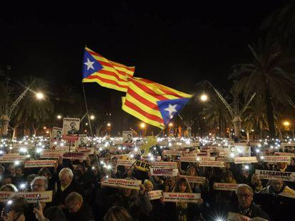 Manifestación independentista el 16 de enero.