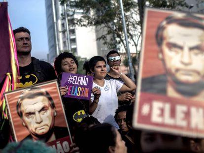 La manifestación contra Bolsonaro en São Paulo