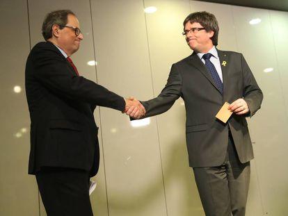 Tuesta y Carles Puigdemont el pasado mayo en Berlín.