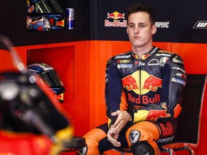 Pol Espargaró, en el circuito de Montmeló el pasado mayo.