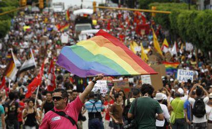Una marcha en defensa de los derechos de los homosexuales, en San José en 2012.