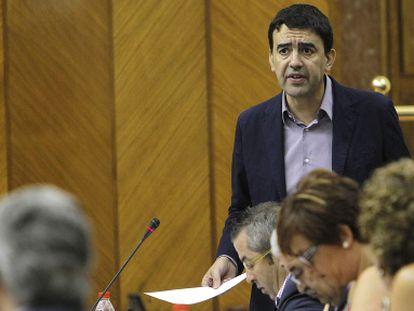Mario Jiménez, en el Parlamento andaluz.