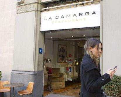 Fachada del restaurante donde se grabó la charla de Camacho.