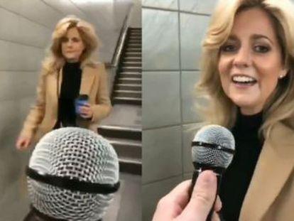 La escena tuvo lugar en el metro de Londres