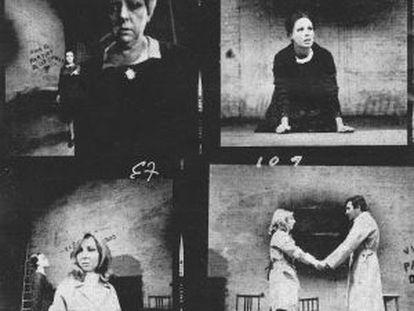 Imágenes de 'El malentendido', de Camus, estrenada por Guillén en 1969.