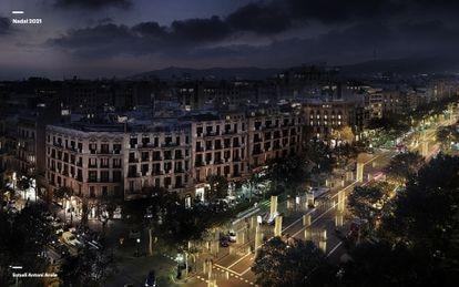 Proyecto de luces de Navidad en Barcelona del Estudio Arola.