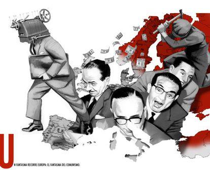 Ilustración para el 'Manifiesto comunista'