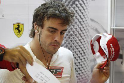 Fernando Alonso, en Abu Dabi.