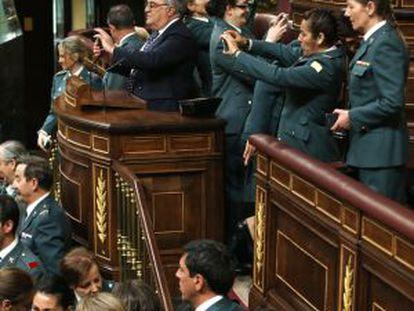 Acto de homenaje a las primeras mujeres de la Guardia Civil.