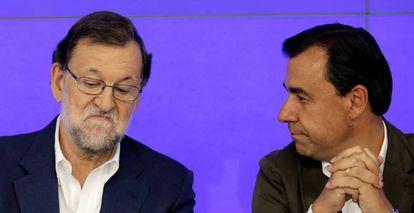 Mariano Rajoy y Fernando Martínez-Maillo.