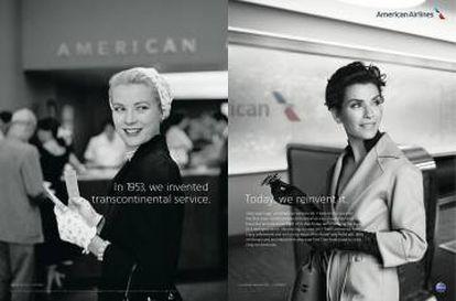 """American Airlines. """"En 1953. inventamos el servicio transcontinental. Hoy, lo reinventamos"""". Agencia McCann, EE. UU."""