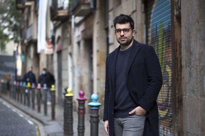 El escritor José Ignacio Carnero, en Barcelona en 2020.