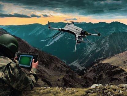 Imagen promocional del dron turco Kargu.