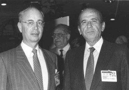 Con Carlos Andrés Pérez, expresidente de Venezuela, en la edición de 1989.