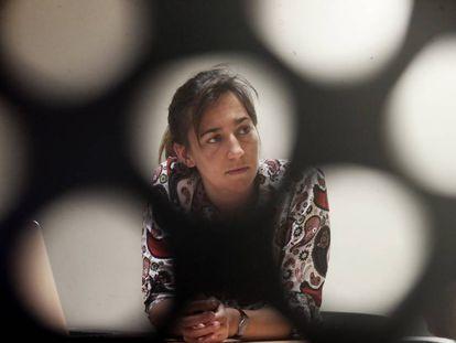 La investigadora y presidenta de la APETP, Elena Campos Sánchez, en el CBM-Severo Ochoa.