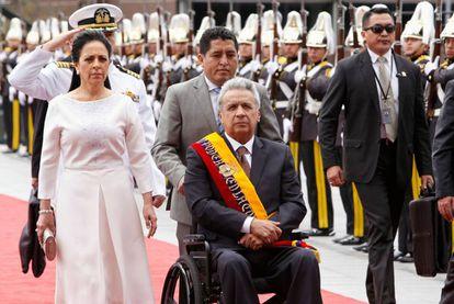 Lenin Moreno, ayer en Quito.