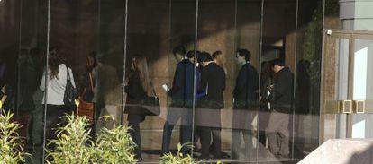 Vista de un edificio en la zona financiera de Azca, en Madrid.