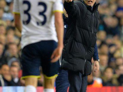 Mourinho, en la derrota del Chelsea ante el Tottenham.