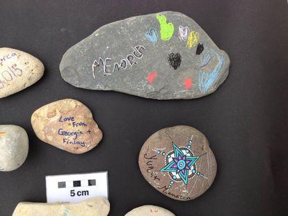 Diferentes piedras incautadas en el aeropuerto durante la temporada de verano.