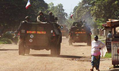 Militares franceses en Bangui, capital de República Centroafricana. REUTERS
