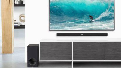 Hemos elegido la barra de sonido Denon DHT-S316 como la mejor para la mayoría de televisores.