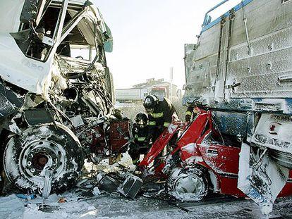 ACCIDENTE EN LA A-62.