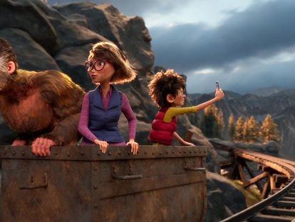 Una escena de la película 'La familia pie grande'.