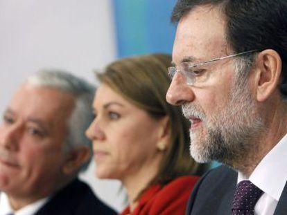 Rajoy, durante su intervención ayer en la reunión de la Junta Directiva del PP.