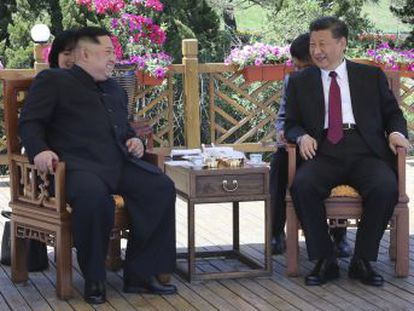 La visita del líder norcoreano a China, iniciada el lunes y terminada hace unas horas, llega poco antes de la cumbre entre Kim y Donald Trump