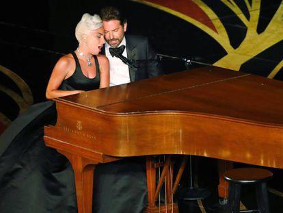 Lady Gaga y Bradley Cooper, en los Oscar.