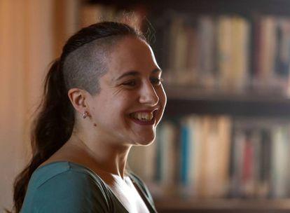 Cristina Morales, premio Nacional de Narrativa, en la embajada española de La Habana el 22 de octubre, día en que se falló el galardón.