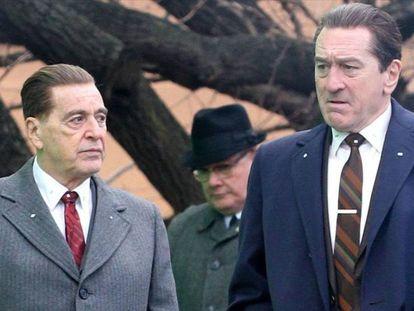 Al Pacino y Robert De Niro, en 'El irlandés'. En el vídeo, el tráiler.