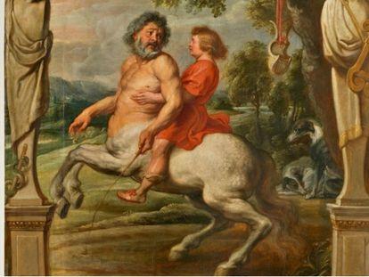 'La educación de Aquiles', de Pedro Pablo Rubens.
