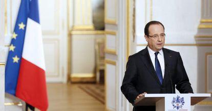 Hollande, en una rueda de prensa el pasado miércoles.