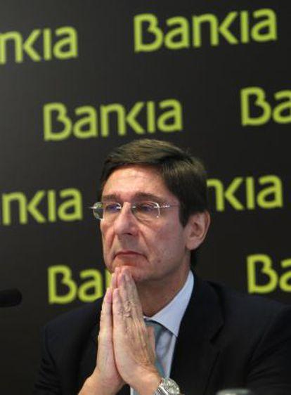 El presidente de Bankia, José Ignacio Goirigolzarri, en una rueda de prensa en noviembre de 2012