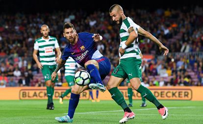 Messi, en el partido contra el Eibar.