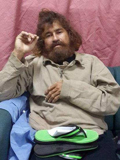 Alvarenga, en una imagen de hace casi tres años tras su rescate.