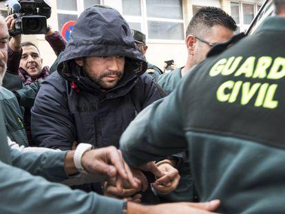 Jorge Ignacio Palma, a su llegada al juzgado de Alzira, hace dos años.
