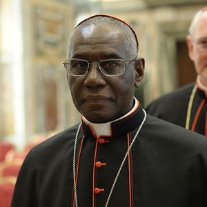 "This handout picture released by the Vatican Press Office taken on February 28, 2013 shows Guinea cardinal Robert Sarah.  AFP PHOTO/OSSERVATORE ROMANO RESTRICTED TO EDITORIAL USE - MANDATORY CREDIT AFP PHOTO/OSSERVATORE ROMANO"" (Photo by - / OSSERVATORE ROMANO / AFP) (Photo by -/OSSERVATORE ROMANO/AFP via Getty Images)"