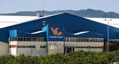 Nave en Beniflà (Valencia) de una de las empresas citrícolas receptora de ayudas europeas.