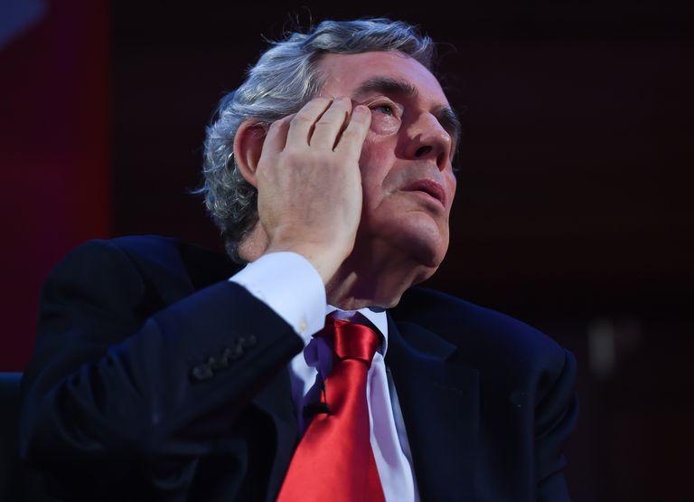 Gordon Brown durante una conferencia en mayo de 2019 en Londres.