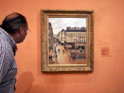 El cuadro de Pissarro, en el Museo Thyssen de Madrid.