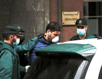 El segundo supuesto sicario que mató a Ardines, este jueves, en los juzgados de Llanes.