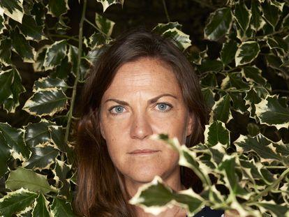 La filósofa Claire Marin, en París el 24 de agosto.