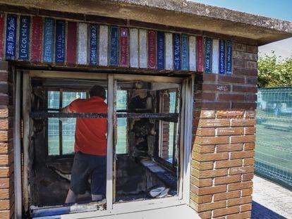 Bibliocaseta quemada en Ciudad Rodrígo